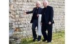 Archbishop of Canterbury and York walking around the Chapel